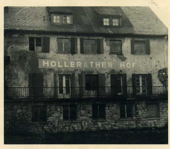 Kriegsruine des Hollerather Hofs 1952